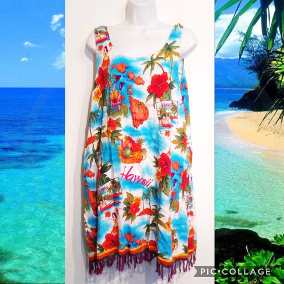 8f339ef79b1d Beach Cabana Swim | Plus Size Hawaii Print Suit Coverup Dress | Poshmark